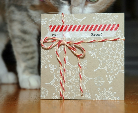 brown paper packages card