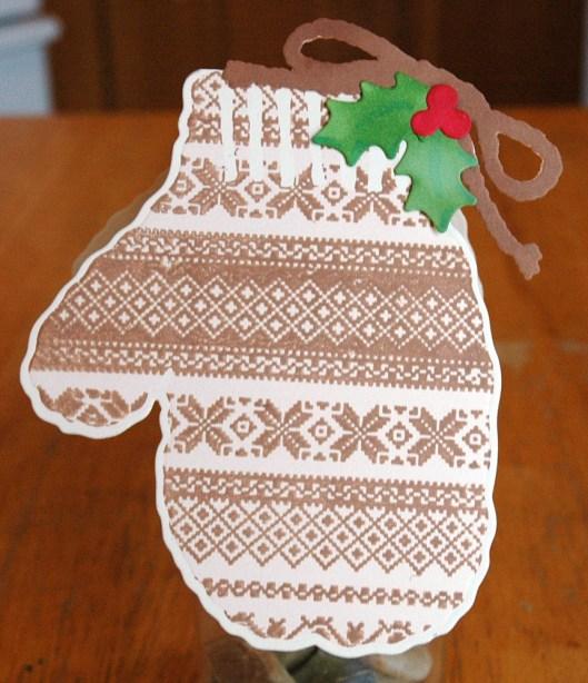 Christmas Card Class - brown mitten