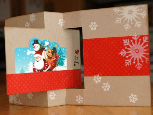 Christmas Card Class - Flip Card, inside