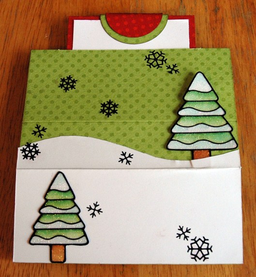 Christmas Card Class - Popup Card closed