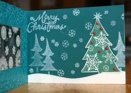 Christmas Card Class - window card, inside