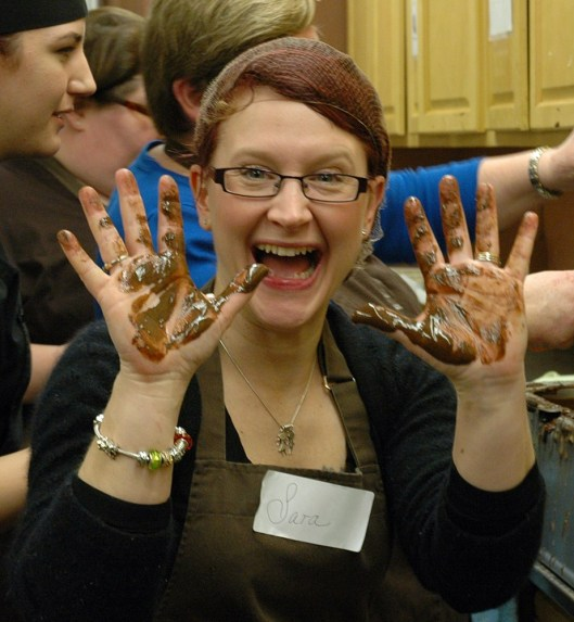 chocolate hands