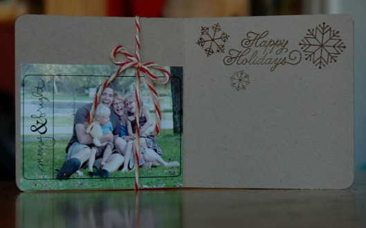 holly jolly card - inside