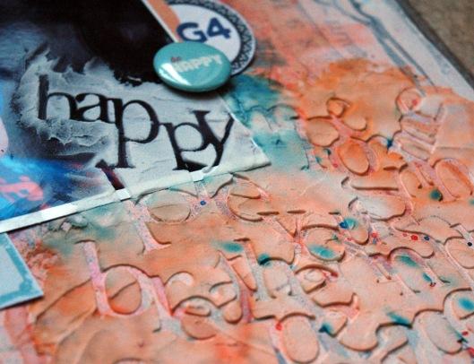 happy - stencil
