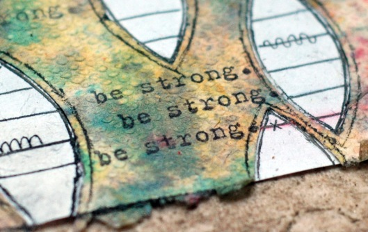 be strong - words