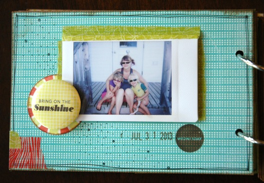 summer vacation mini - instax page
