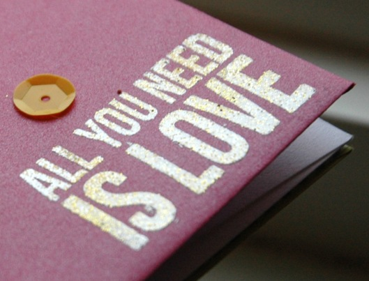 all you need is love - shine