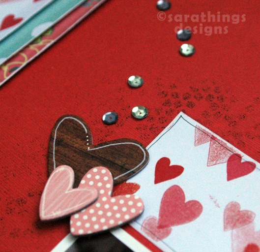 february hearts and sequins