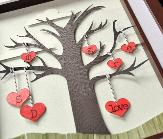 family tree closeup