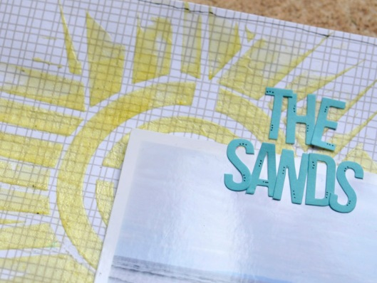 the sands embossing paste