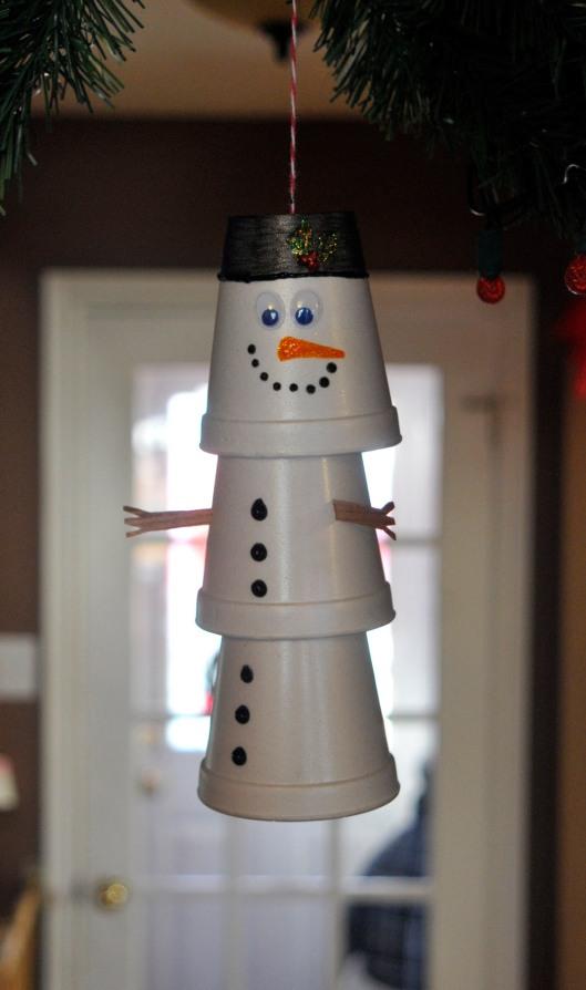 snowman layered