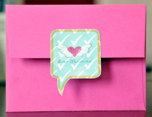 valentine envelope back