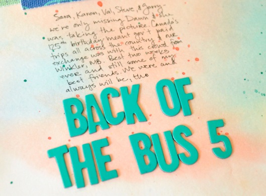 back of the bus 5 - title and journaling